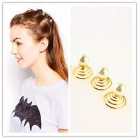 6 pcs/lot Wedding Bridal Hair Accessories Hair Jewelry Hair Pin Pearl Spiral Hairpins Hair Accessories for Women