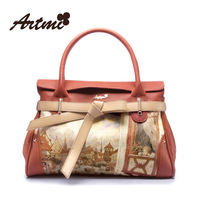 Hongkong Artmi2014 the Atmic the new sweet vintage painting printed handbag commuter portable single shoulder bag