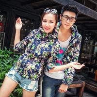 31 for t3 38 2014 lovers flower jacket vintage casual male zipper sweatshirt outerwear