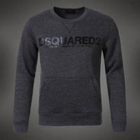 Wood male 100% slim o-neck cotton sweatshirt d2 letter print thick three-color dsq