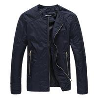 Free shipping men jacket Round collar fashion casual men's jacket size M - 5 xl