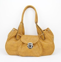 """H026(orange)Hot Sale popular women bag,15.5 x 6 x 7.75"""",PU,12 different colors,Interior Structure 3 small pocket,Free shipping"""