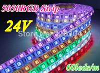 Magic color 5050 RGB 300LED/5m DC24V LED strip Light Waterproof IP65 Lighting 60leds/m