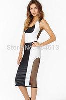 Free shipping Exhibition Mesh Dress Wholesale women Dress new fashion Gown & Long Dress 6162