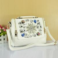 2014 new hot-selling diamond handbag big rhinestone one shoulder cross-body fashion women's handbag  starfish messenger bag