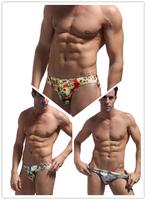 New 2014 Bikini Sungas De Praia Swimwear Mens Swim Briefs Swimming Trunks Shorts Men Swimsuit low rise Sports 3 Colors