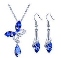Newest T Crystal design Round Jewelry Sets Wholesales Fashion Jewelry S091