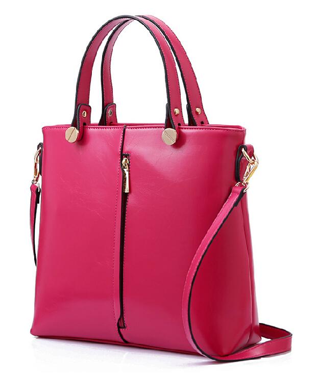 2014 women's genuine leather handbags fashion cowhide female bag messenger bag shoulder bag elegant simple portable bag(China (Mainland))