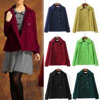 Great Promotions Winter Coat Women Plus Size Wool Blends Jackets Women Slim Casacos Femininos Button 6 Color 3 Size B-2019