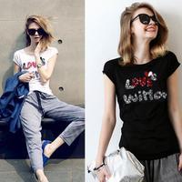 New Arrival fashion brand to women t shirt Short High-end brands women t-shirt T001