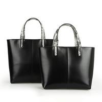 free shipping high quality real leather women's simple designer tote shoulder bag fashion brief shoulder handbag work big bags