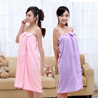 Free shipping women Bath towel female bow towel skin-friendly soft ultrafine fiber towel super absorbent towel
