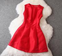 New arrival  2014 fall-winter women's patchwork simple elegant dress bridesmaid dress party dress