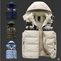 Fashion New MEN'S WINTER VEST Warm Men Outdoors DOWN JACKET Fashion Waistcoat , Men Vest Slim CASUAL BRAND Waistcoat Coats