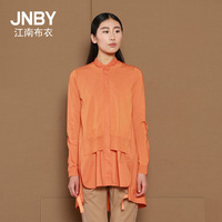 Jnby JNBY autumn elegant long-sleeve knitted patchwork shirt 5c11001  11.11 promotion pure color cotton Leisure coat shirt
