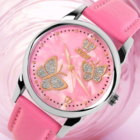 Moment America personality sweet temperament luxury fashion lady butterfly paragraph waterproof quartz watches student table bel