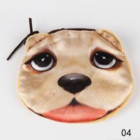 Drop Shipping Hot Sale Fashion Cartoon Animals Zipper Case Kids Coin Purse Wallet Makeup Bag Pouch BG-0375