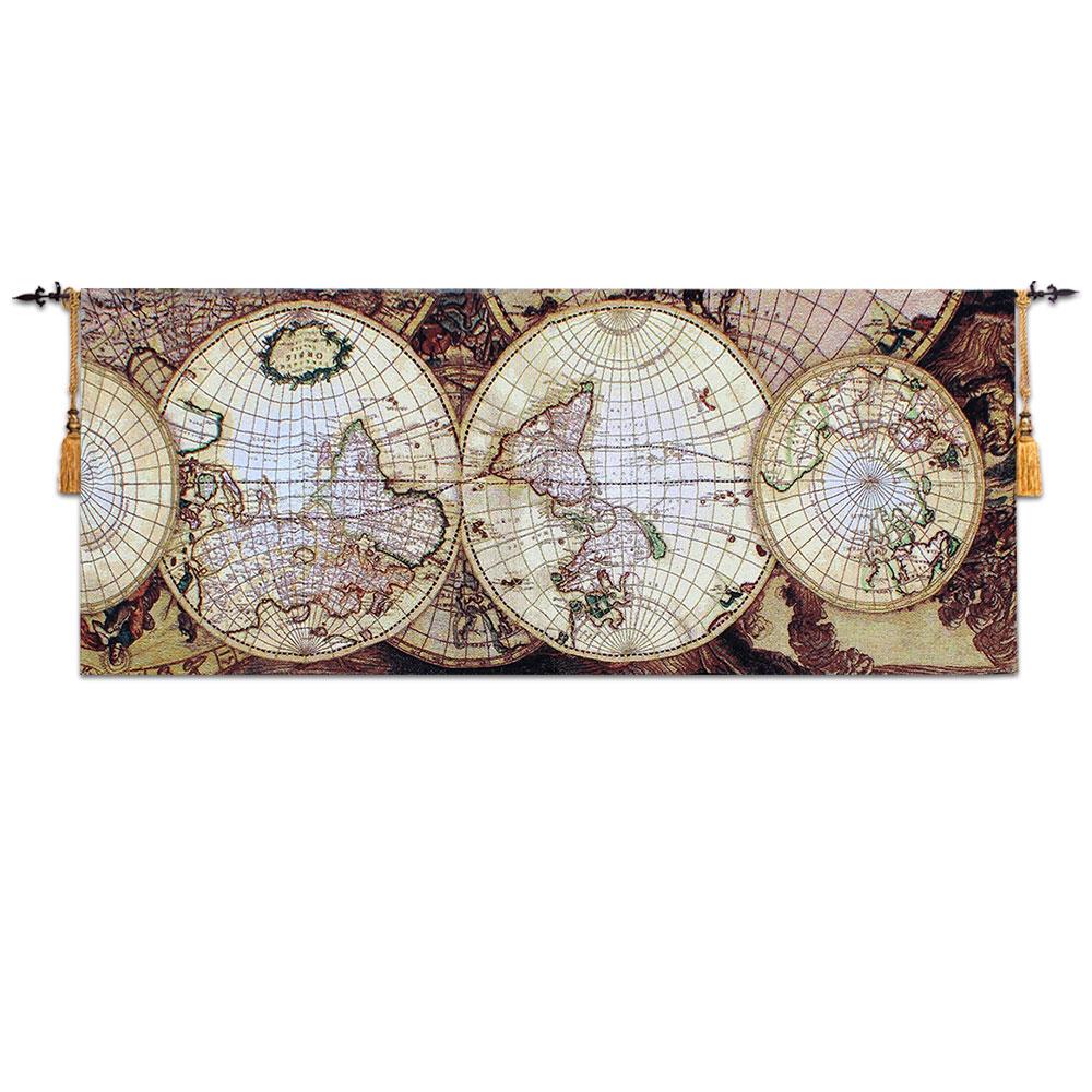 2014 presentes de Chrismas map art fotos tecido ome têxtil decoração estilo europeu moda tapeçaria nova chegada tapeçaria(China (Mainland))