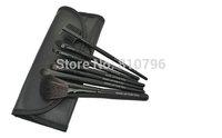 A Set 7Pcs Black Professional Synthetic Hair Makeup Brush Set Kit Makeup Brushes tools Brand Make Up Brush Set Case Bag