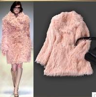 Winter 2014 Women Long Sleeve Faux Fur Fashion Coat  141015HA02