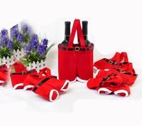 wholesale 5pcs/lot Christmas gift bag wine bag Christmas candy pants pocket bags wedding gift bags jewelry