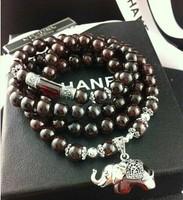 925 silver natural garnet red corundum leuconostoc women's bracelet