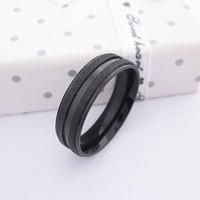 Men Stainless Steel Black Ring Item ID:2026 1 pcs