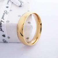 Men Stainless Steel Gold Ring Item ID:2023 1 pcs