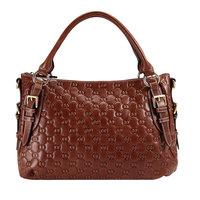 2014 Direct Selling Totes Embossed Floral Medium(30-50cm) Women Handbag Genuine Leather Women Bag Embossing Handbag for women