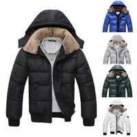 Мода бренда вниз & ветровки открытый капот теплый ветрозащитный Зимняя куртка мужчин Мужская куртка. D005