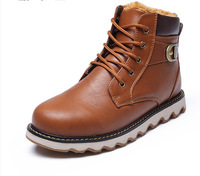 The new autumn and winter Korean version of the British men's short boots cotton boots tide Martin boots
