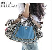 Hot! 2014 vintage Rivet canvas shoulder bag women's handbag messenger bag crossbody bag