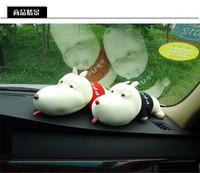 Car Decoration Accessories Medium-large Dog 28CM Car Cartoon Odor Charcoal Bag Cartoon Bamboo Doll Car Package Free Shipping