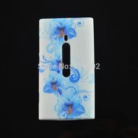 New Stylish Flower Retro UK Flag Soft TPU Protective Cover Phone Case For Nokia Lumia 800 N800