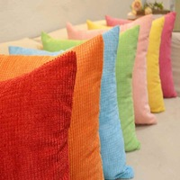 1x New Fashion Modern Charming Square Corn Kernels Corduroy Sofa Cushion Cover Decor Pillow Case Free Shipping