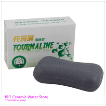 Free Shipping Oil Controlling Skin Care Soap 100g piece Tourmaline Energy Soap Kill bacteria
