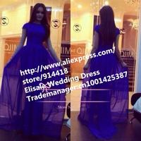 Free Shipping Top Chiffon Floor Length Short Sleeves Purple Evening Dress Maxi Dresses for Women On Sale New Arabia dress 2014