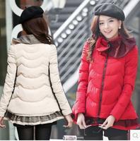 Beautiful 2014 winter outerwear wadded jacket female cotton-padded jacket women's cotton-padded jacket