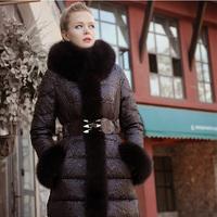 Bl for ess edly medium-long fox fur slim high quality down coat female 2014