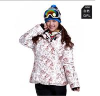 Dropshipping professional skiing jacket women snow coat waterproof wind resistant winter coat EU size large to 2XL