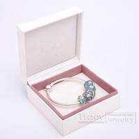 2014 New Arrival! Handmade Women Bangles with Murano Beads B020 for European Pandora(1box&5beads&1bangele) Gift for Xmas