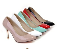 Women shoes autumn candy color  thin heels high-heeled pumps