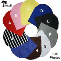 Baby Hats (1lot=10pieces)Wholesale 10 differnt solid colors cotton real photos children hat baby caps Boy&Girl cap kids beanie