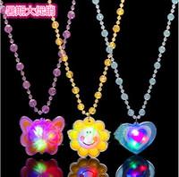 Toy beads soft flashing necklace light-emitting luminous necklace light up toy