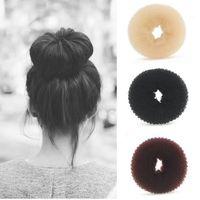 Hair Donut Bun Ring Shaper Styler hair Maker Tool Brown Black Beige Hairdressing