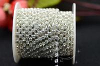 Free shipment handicrafts 2.9mm Crystal rhinestones chain silver base for rhinestones Applique for dresses :