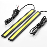 2 pcs Waterproof Aluminum High Power 6W 6000K Xenon White Slim COB LED DRL Daylight Driving Daytime Running Light For Car SUV