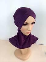 mu614 big size new design muslim hijab scarf ninja inner cap underscarf