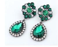 High Quality Imported Rhinestone Oval Earrings