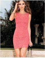 2014 vestido, fashion vestidos women dress, cute lace dress  sexy female New fashion vestidos bandage dress